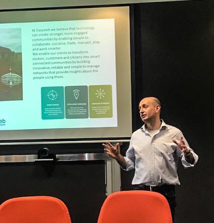 Daniel Sacchero speaking at the Charles Darwin University LORA Network Workshop