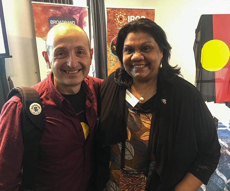Daniel Sacchero and Christine Ross at Broadband for the Bush 2017