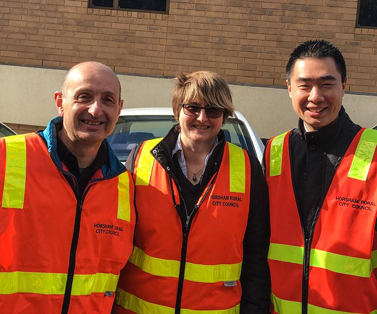 Easyweb visits Horsham City Council